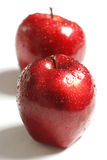 Red apples. Red apple with water drops Stock Photo
