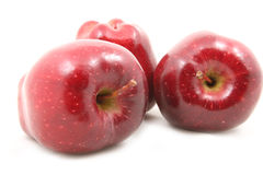 Red apples. On a white background Royalty Free Stock Images