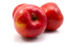 Red apples. Isolated on the white background stock photography