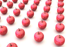 Red apples arrayed in a rows Royalty Free Stock Image