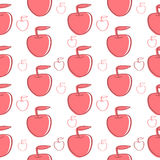 Red Apples Background. Seamless texture Stock Image