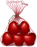 Red apples in the bag. Illustration Royalty Free Stock Images