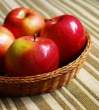 Red apples in the basket Stock Image