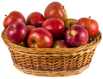 RED APPLES IN BASKET Royalty Free Stock Photos