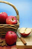 Red Apples in a Basket Stock Images