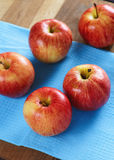 Red apples on the blue a Royalty Free Stock Images