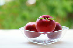 Red apples in a bowl Royalty Free Stock Image