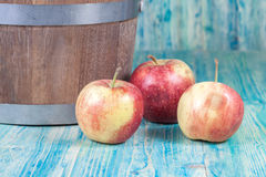 Red apples in  bucket Royalty Free Stock Photo