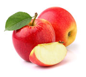 Red apples in closeup Stock Images