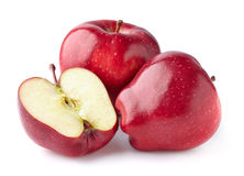 Red apples in closeup Royalty Free Stock Photo