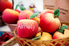 Red apples from felt Royalty Free Stock Photography