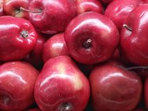 Red Apples. Fresh red apples at the farmer market Stock Image