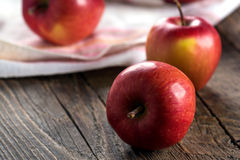 Red apples. Fresh red apples on table Stock Photography