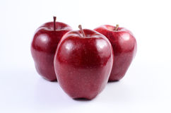 Red apples. Fresh red apples on white background royalty free stock image