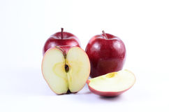Red apples. Fresh red apples on white background stock images