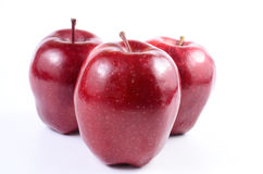 Red apples. Fresh red apples on white background royalty free stock photography