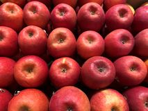 Red apples.. Fruits abd vegetables. Red apples. ts abd vegetables. Fragment from a fruit and vegetable store stock image