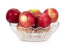 Red apples in a glass vase Royalty Free Stock Photography