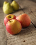 Red apples and green pears Royalty Free Stock Images