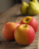 Red apples and green pears Royalty Free Stock Photo
