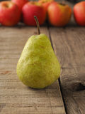 Red apples and green pears Stock Photos