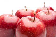 Red apples, isolated Stock Photo