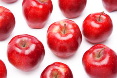 Red apples, isolated Royalty Free Stock Photos