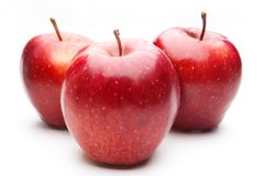 Red apples, isolated Stock Photos