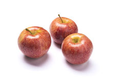 Red apples isolated. Group of red apples with white background Stock Images
