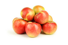 Red apples isolated on white. Royalty Free Stock Photos