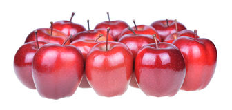 Red apples isolated on white background cutout Stock Image