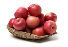 Red apples. Isolated on white background royalty free stock photography