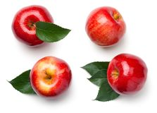 Red Apples Isolated on White Background stock photos