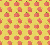 Red apples with leaves pattern Stock Image