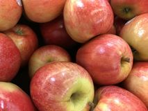 Red Apples. At market royalty free stock photo