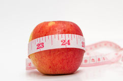 Red apples measured Royalty Free Stock Photo