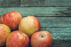 Red apples with copy space Royalty Free Stock Photos