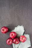 Red apples on a painted background Royalty Free Stock Photos