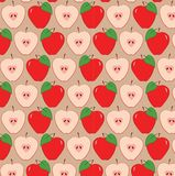 Red apples pattern Royalty Free Stock Images