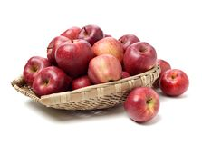 Red apples. Isolated on white background stock photos