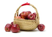 Red apples. Isolated on white background royalty free stock photo
