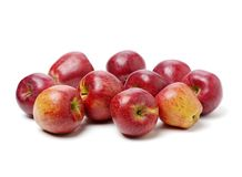Red apples. Isolated on white background stock photography