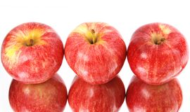 Red apples reflected it's shape Royalty Free Stock Image