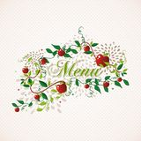 Red apples restaurant menu design Royalty Free Stock Photo
