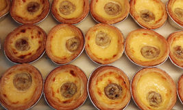 Egg tart and Portugese custard tart  Royalty Free Stock Photos