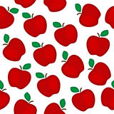 Red apples  seamless pattern Royalty Free Stock Photos