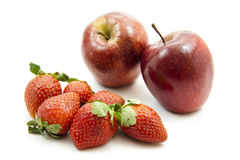 Red apples and strawberries Stock Photography