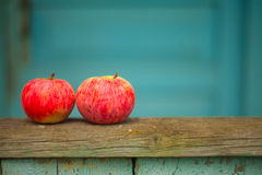 Red apples on the table. Beautiful red apples on the table Royalty Free Stock Image