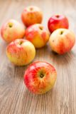 Red apples on a table Royalty Free Stock Images