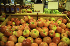Red apples. A view some ripe juicey red apples Royalty Free Stock Photos